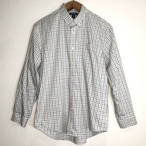 Lands End Long Sleeve Tailored Fit Shirt Size XL